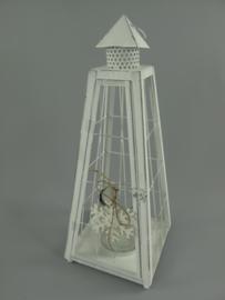 Rustiek lantaarn wit
