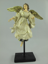 Angel polystone goudkleurige H.42x32cm
