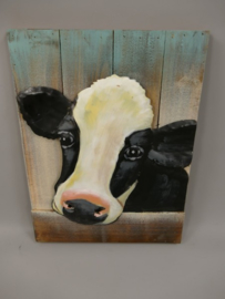 Drie delen 3D koeien kop