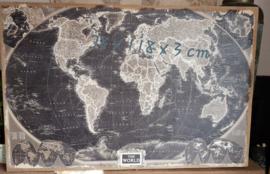 Landkaart op jutten doek