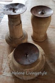 Stoere poeren kaarsen kandelaar 1