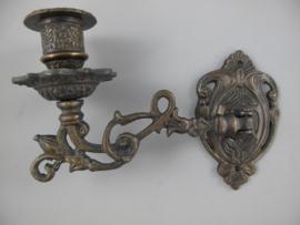 Wand kaarsenkandelaar brons