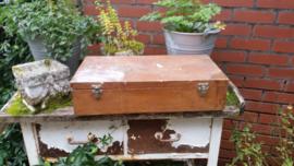 Vintage schilders houten kist