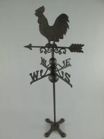 Weerhaan ijzer rustiekbruin   H.102 cm