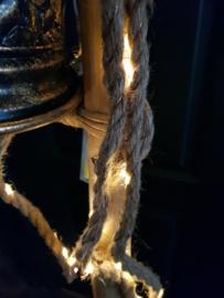 Led verlichting met jute  dikke touw