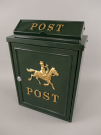 Brievenbus post antiek groen