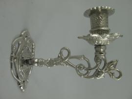 Wand kaarsenkandelaar zilver
