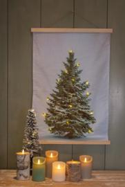 Kerstboom op fluweeldoek led