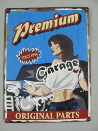 Ijzer garage 49 x 30 cm
