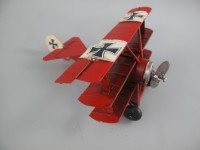 Vliegtuig retro  rood Aircraft