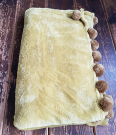 Woondeken velvet mosterd geel