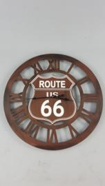 Ijzeren wandklok route 66