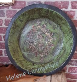 Houten schaal groen