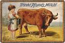 Vintage melk met koe