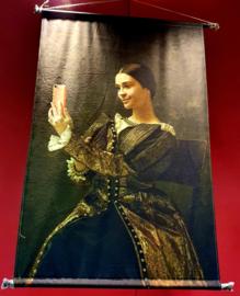 Wandkleed velvet wanddoek portret