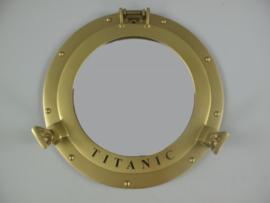 Patrijspoort titanic  wandspiegel koper