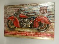 Motor 3D schilderij