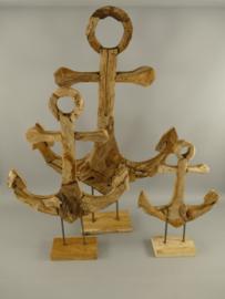 Teake houten anker standaard
