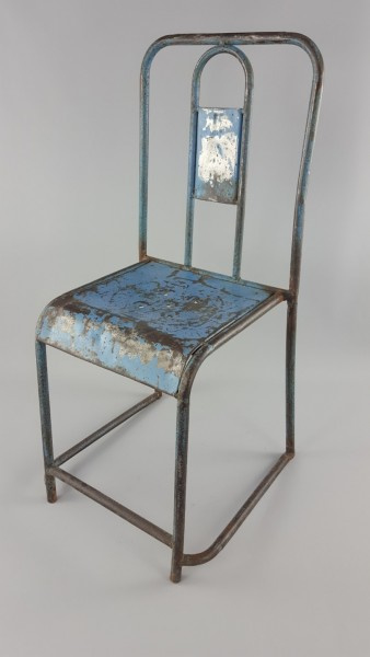 Ijzeren stoel blauw
