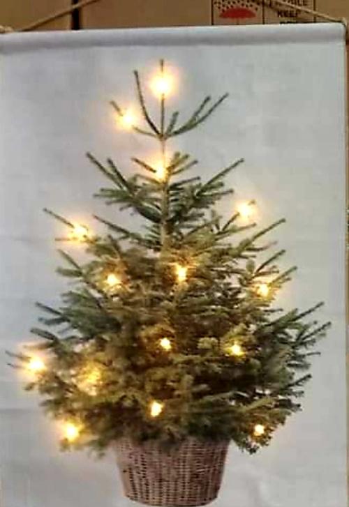 Kerstboom op doek maat S