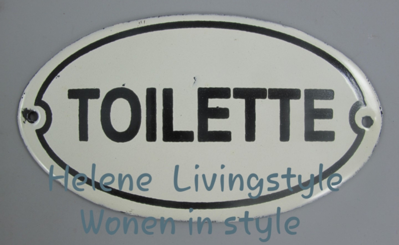 Wand bordje toilet eimail