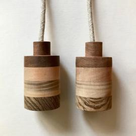 Set houten lampen - fitting Ingo