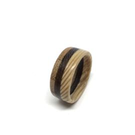 Bamboe Wengé Lariks - Houten Ring