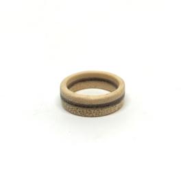 BAMBOE WENGÉ PADOEK - HOUTEN RING