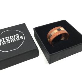 Houten Ring - Padoek Wenge Esdoorn Iep