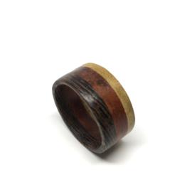 Houten Ring - Wengé Padoek Movingui