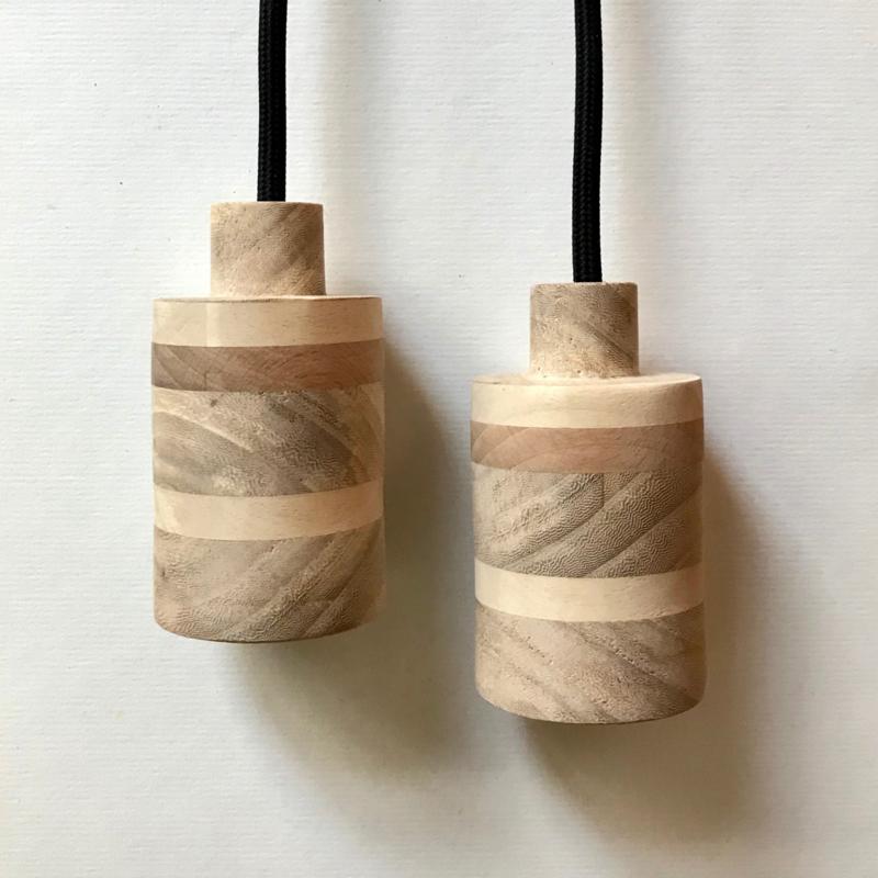 Set houten lampen - fitting Nim