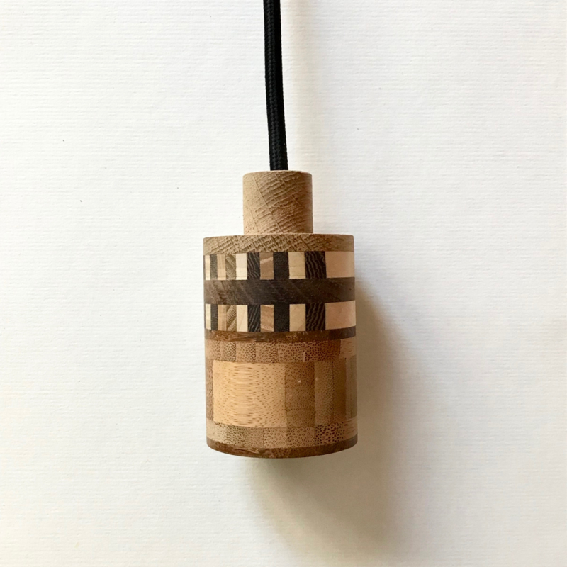 Houten lamp - fitting Guust
