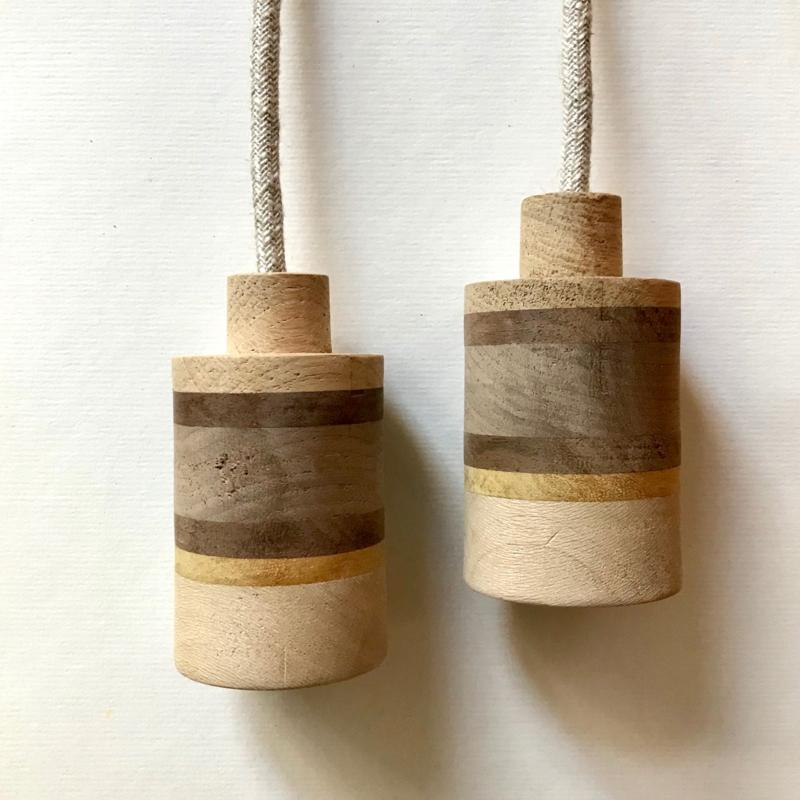 Set houten lampen - fitting Luc