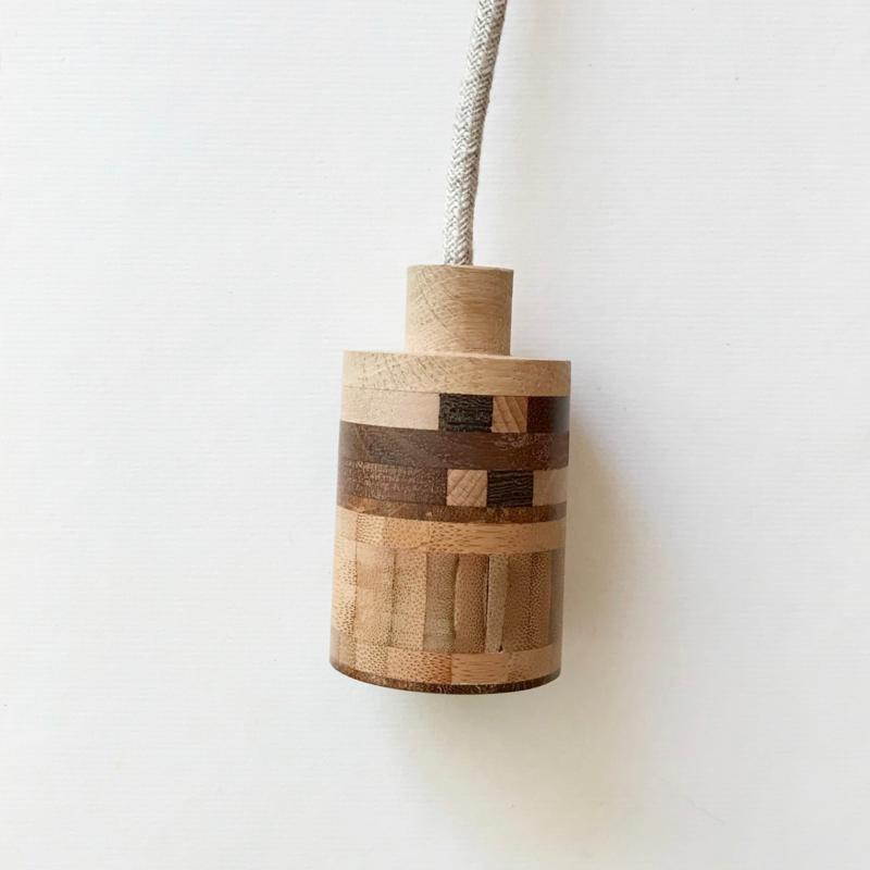 Houten lamp - fitting Kas