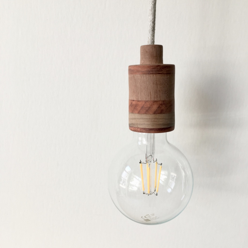 Houten lamp - fitting Joppe