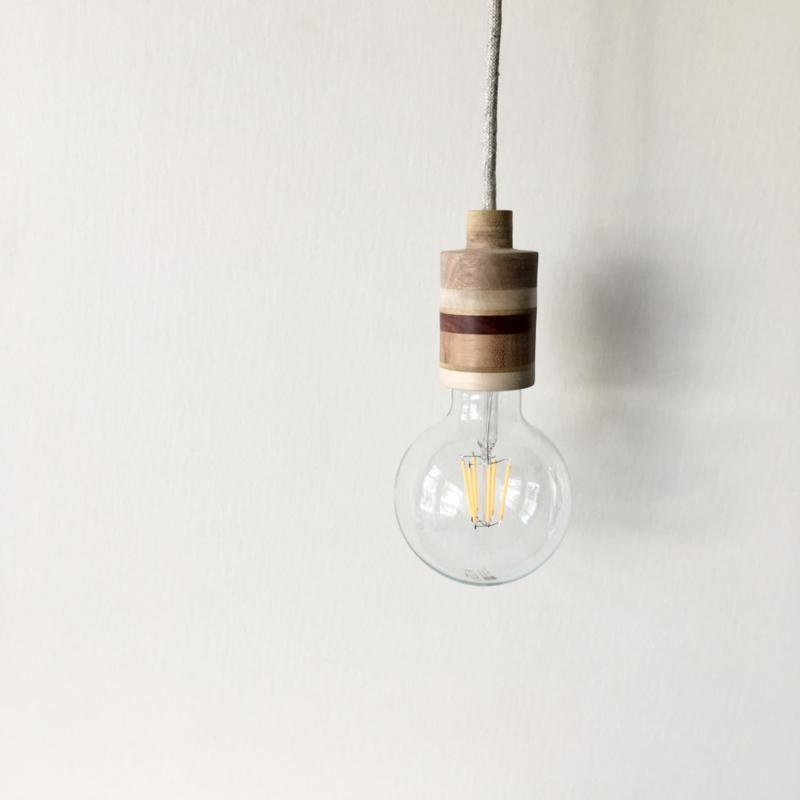 Mooi.Lamp - MAAN - houten fitting