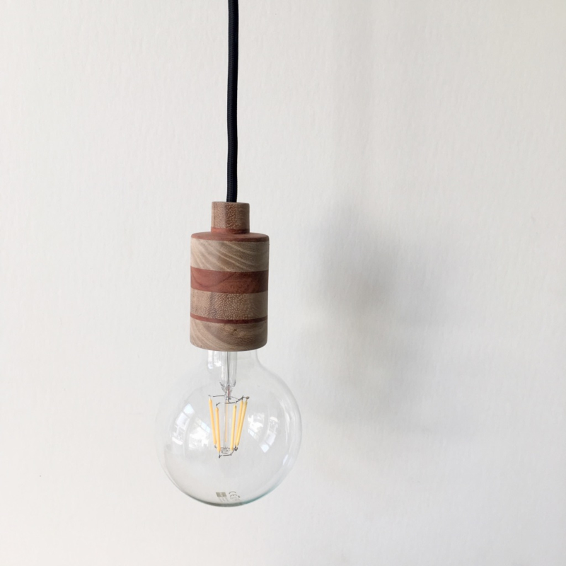 Houten lamp - fitting Suus