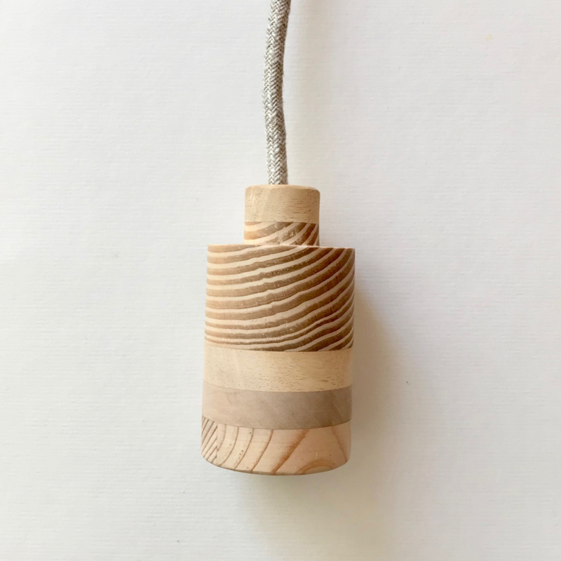 Houten lamp - fitting Kiek
