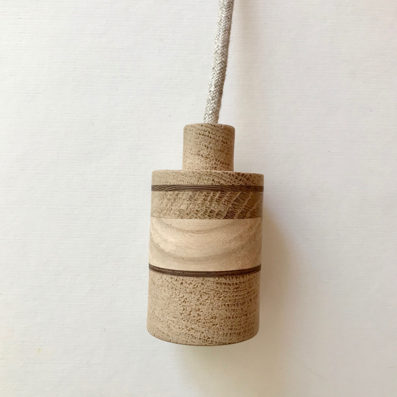 Houten lamp - fitting Jiske