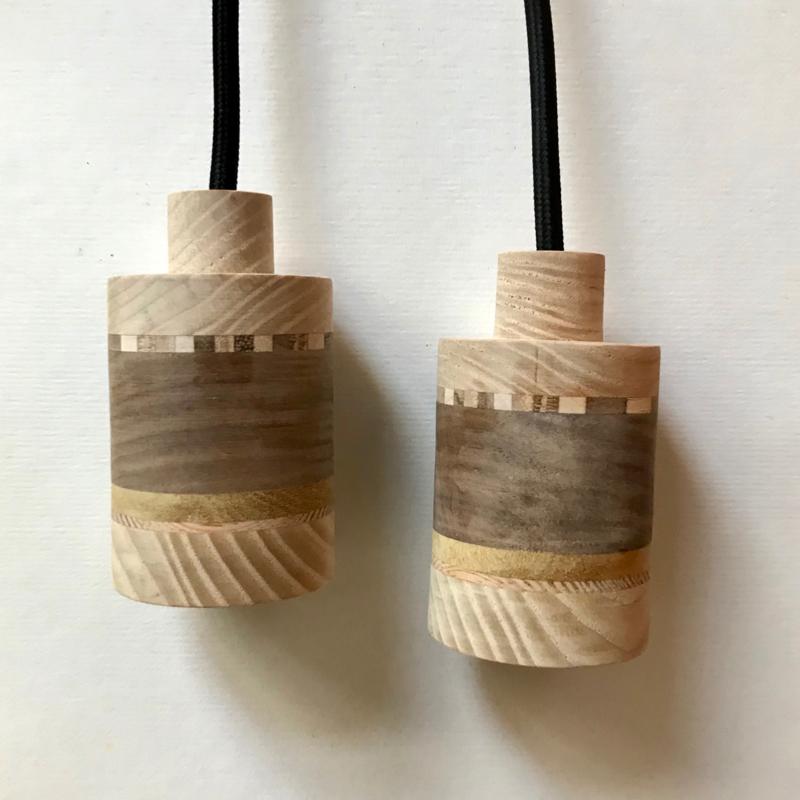 Set houten lampen - fitting Vikas