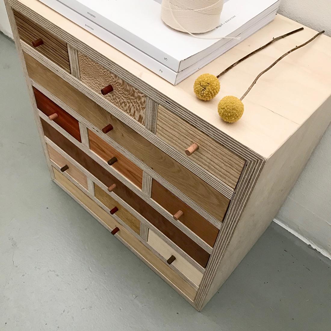 houten ladekastje studio mooibos