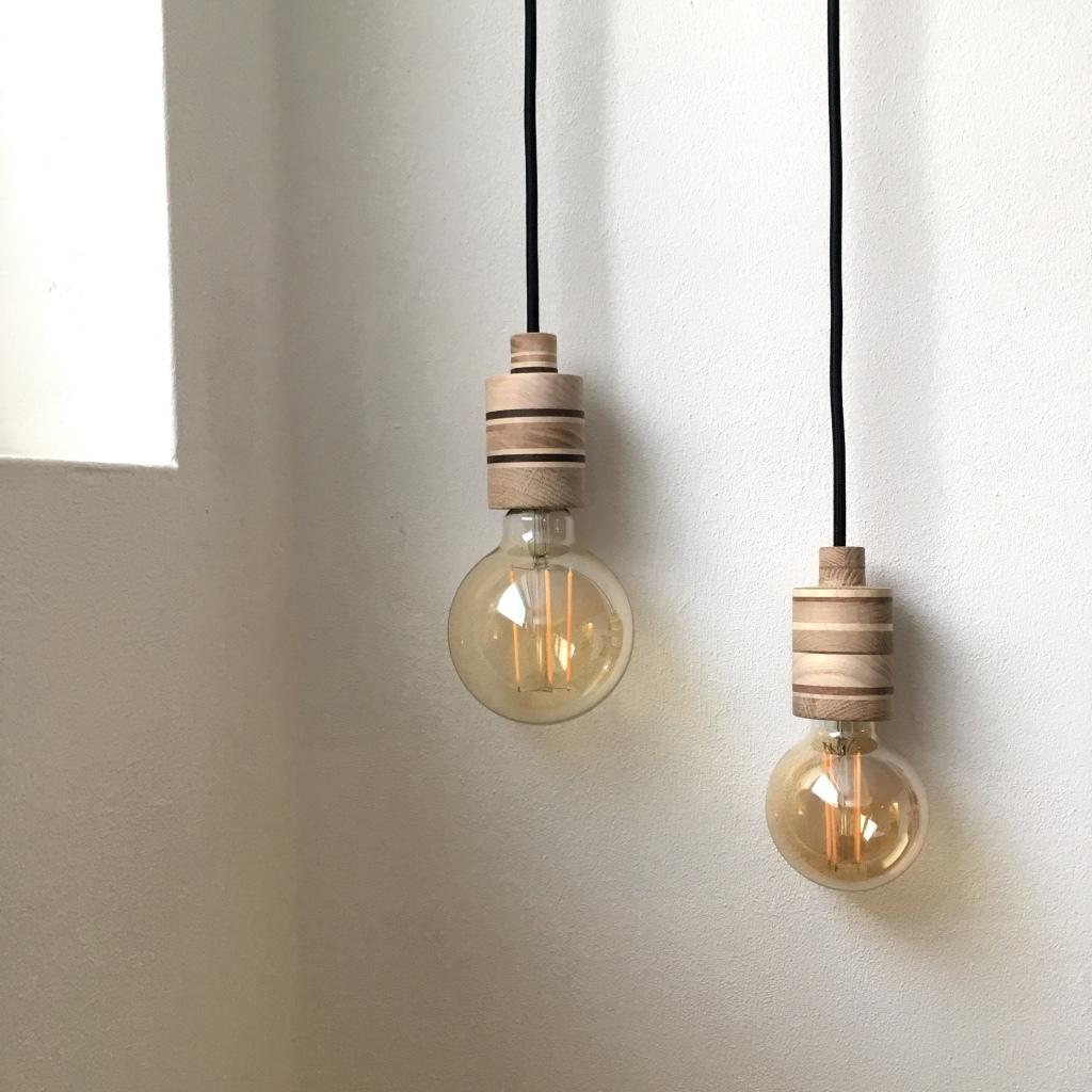 houten lamp, fitting