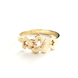 Gouden ring Flore
