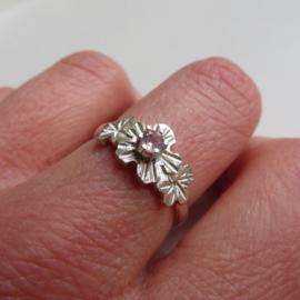 Zilveren ring Flore met toermalijn