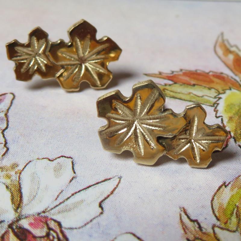 Gouden oorstekers Flore