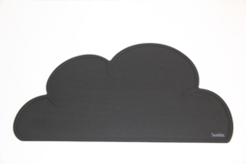 Placemat wolk | Zwart