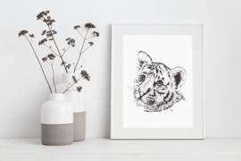 A3 Poster - Baby Tiger (handgetekend)