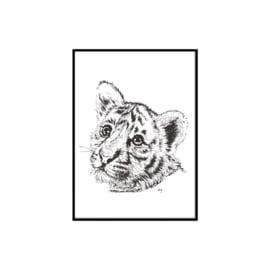 A3 Poster - Baby Tiger (hand-drawn)