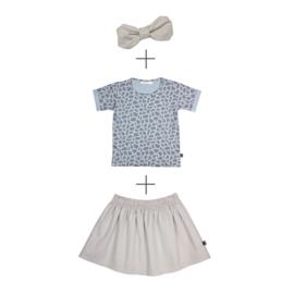 Skirt Linnen & T-shirt Animal met of zonder haarband