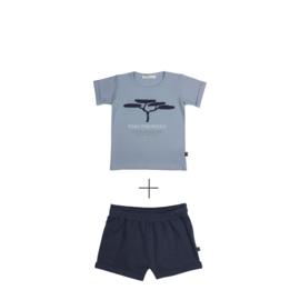 Short  Dark Blue & T-shirt Pino
